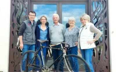 Exposition vélos anciens avec Guy Frosio